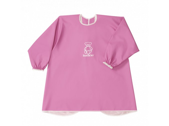 vyr 84eat and play smock pink 044389 babybjorn