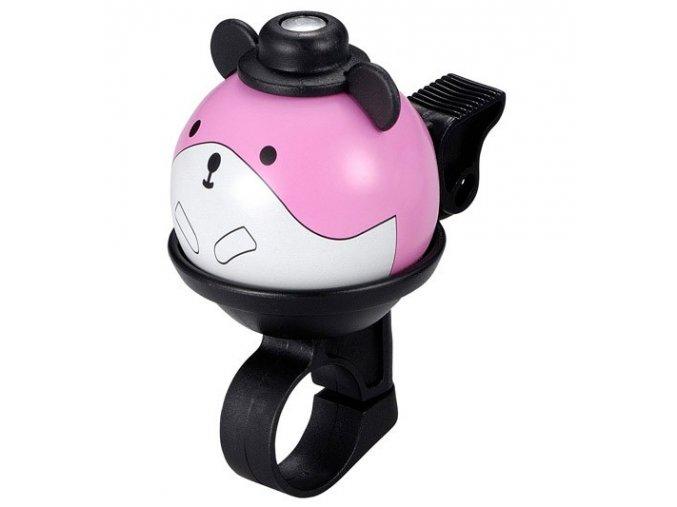 FirstBIKE Zvonek myš - růžový