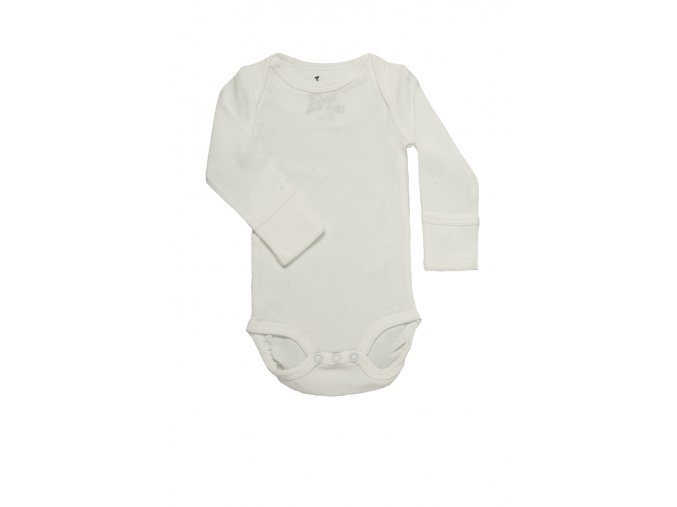 LODGER Body Romper Newborn Cotton Stars Milk