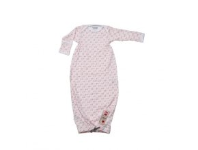 LODGER Spací pytel Hopper Newborn Scandinavian Print Blush/Soft Skin 56-62