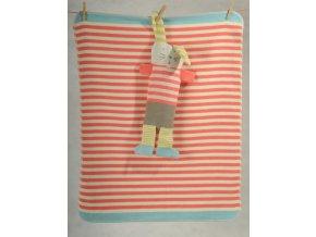 David Fussenegger deka včetně maňáska Juwel 70x90 cm zajíc