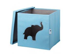 box s okénkem slon