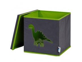 box s okénkem dinosaurus