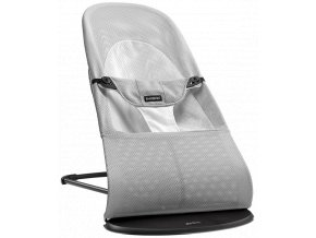 vyr 131baby bouncer balance soft silver white mesh 005029 babybjorn
