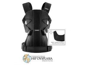 BabyBjörn ergonomické nosítko One Black Cotton s bryndákem