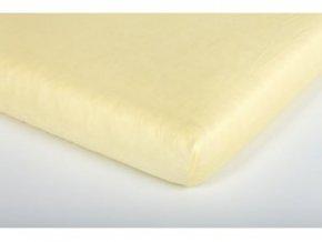 Träumeland prostěradlo jersey UNI gelb 70 x 140 cm