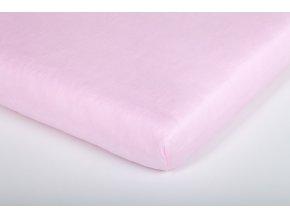 Träumeland prostěradlo do kolébky jersey 40x90 cm světle růžové