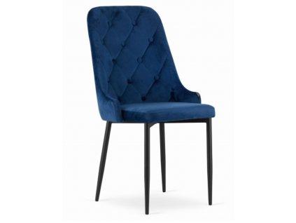 Sametová židle Dublin modrá