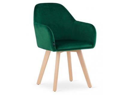 Sametová židle Rome zelená