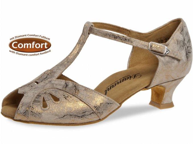 Taneční boty Diamant 019 bronzová - 4,2 cm