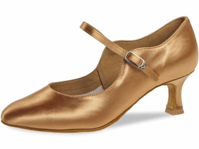 Taneční boty Diamant 050 bronzová - 5 cm Flare