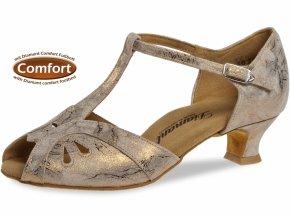 EU 38,5 Taneční boty Diamant 019 bronzová - 4,2 cm