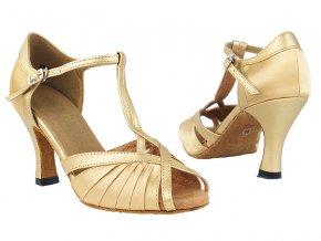 damske tanecni boty 2707 svetle hneda