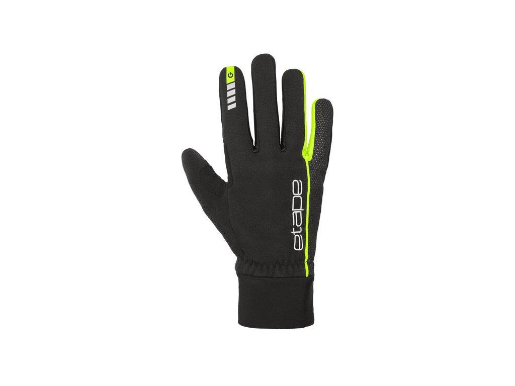 Etape – rukavice PEAK WS+, černá|žlutá fluo