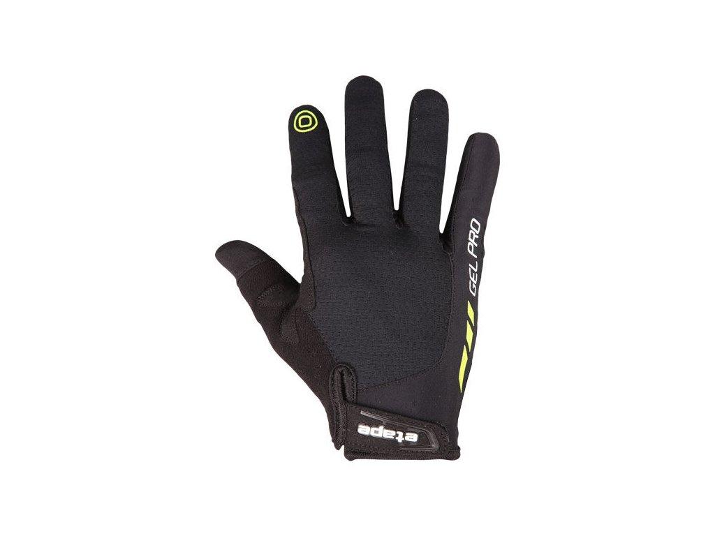 Etape - pánské rukavice SPRING+, černá/limeta