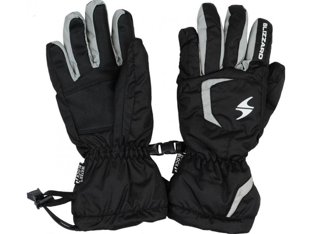 BLIZZARD Reflex junior ski gloves, black/silver