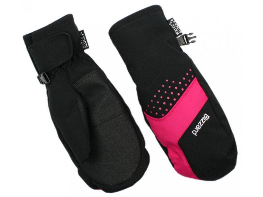 BLIZZARD Mitten junior ski gloves, black/pink