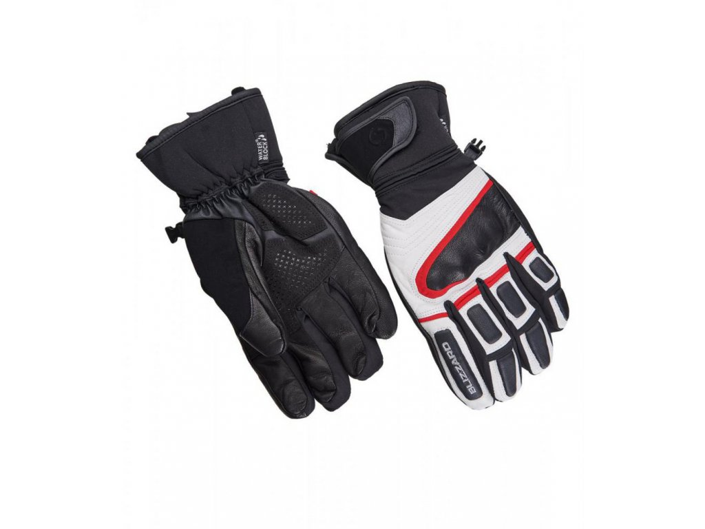 BLIZZARD Competition ski gloves, black/white/red