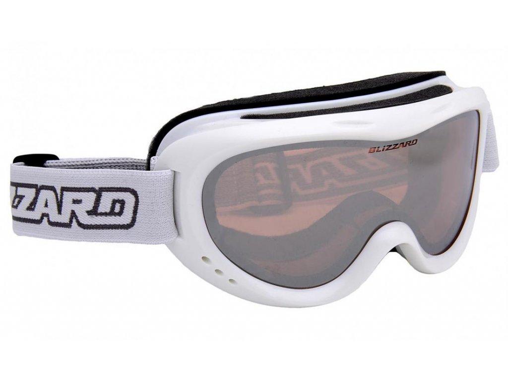 BLIZZARD Ski Gog. 907 MDAZO, white met., rosa2, silver mirror
