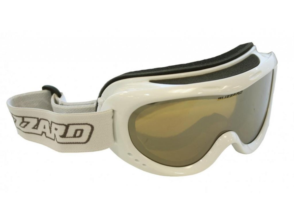 BLIZZARD Ski Gog. 907 MDAZPO, white met., honey2, silver mir., polar