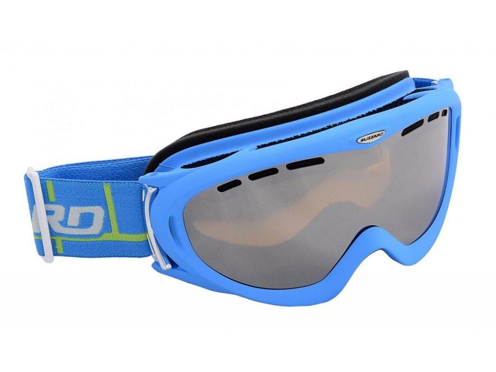 BLIZZARD Ski Gog. 905 MDAVZFO, neon blue matt, amber2-3, silv.mir., photo