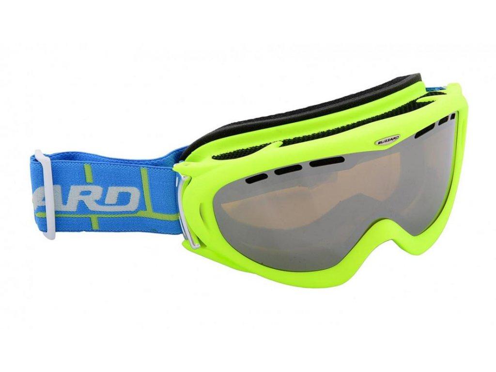 BLIZZARD Ski Gog. 905 MDAVZFO, neon green matt, amber2-3, silv.mir., photo