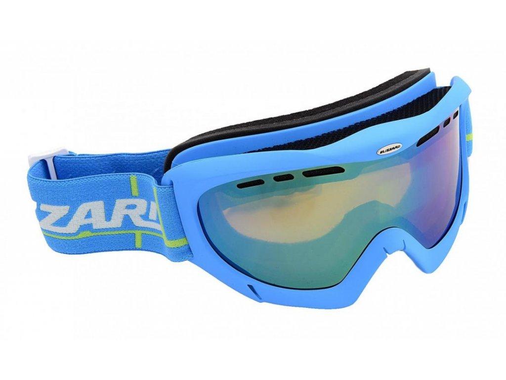BLIZZARD Ski Gog. 912 MDAVZF, neon blue matt, amber2-3, green mir., photo