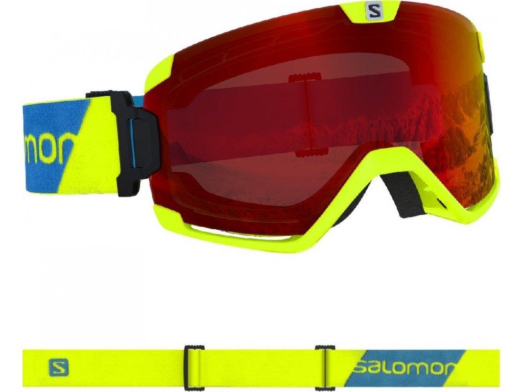 lyž.brýle SAL.Cosmic neon yellow/UNI mid red 19/20
