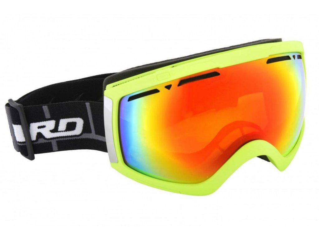 BLIZZARD Ski Gog. 918 MDAVZP, neon green matt, honey2, red revo, polarized