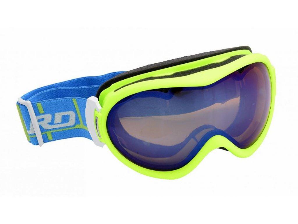 BLIZZARD Ski Gog. 919 MDAVZS, neon green matt, amber2, blue miror