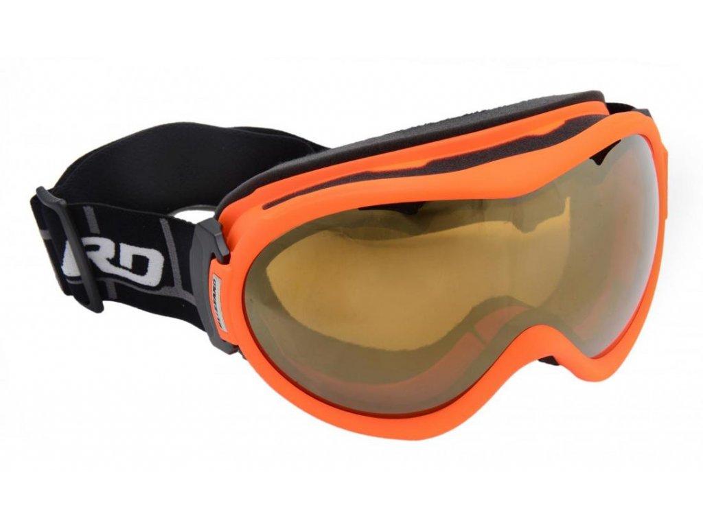 BLIZZARD Ski Gog. 919 MDAVZS, neon orange matt, amber2, gold mirror