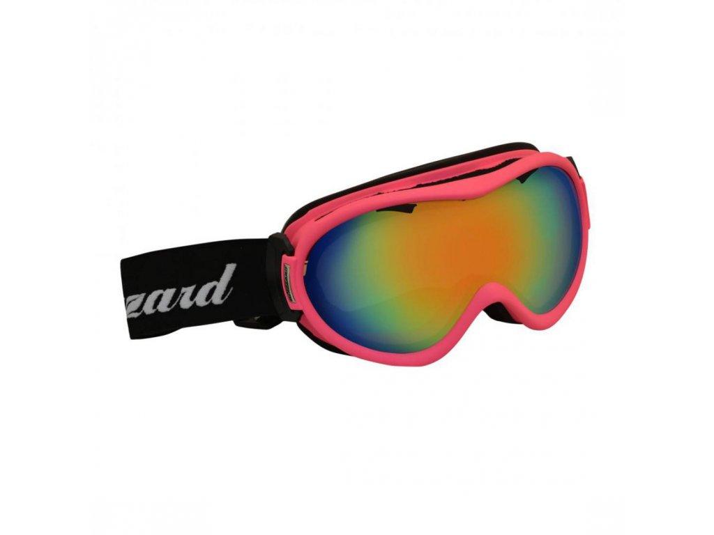 BLIZZARD Ski Gog. 919 MDAVZS, neon pink matt, rosa2, red revo