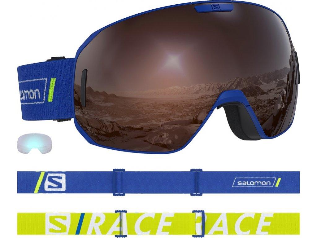 lyž.brýle SAL.S/MAX race blue/solar silver 18/19