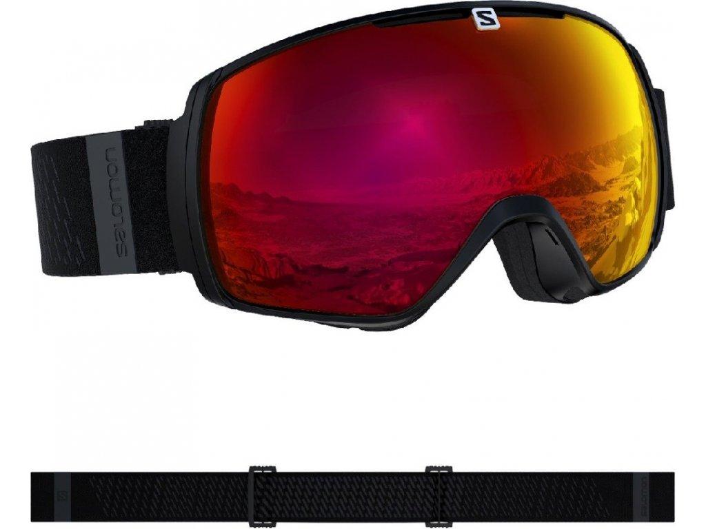 lyž.brýle SAL.XT ONE sigma black/UNI pop red 19/20