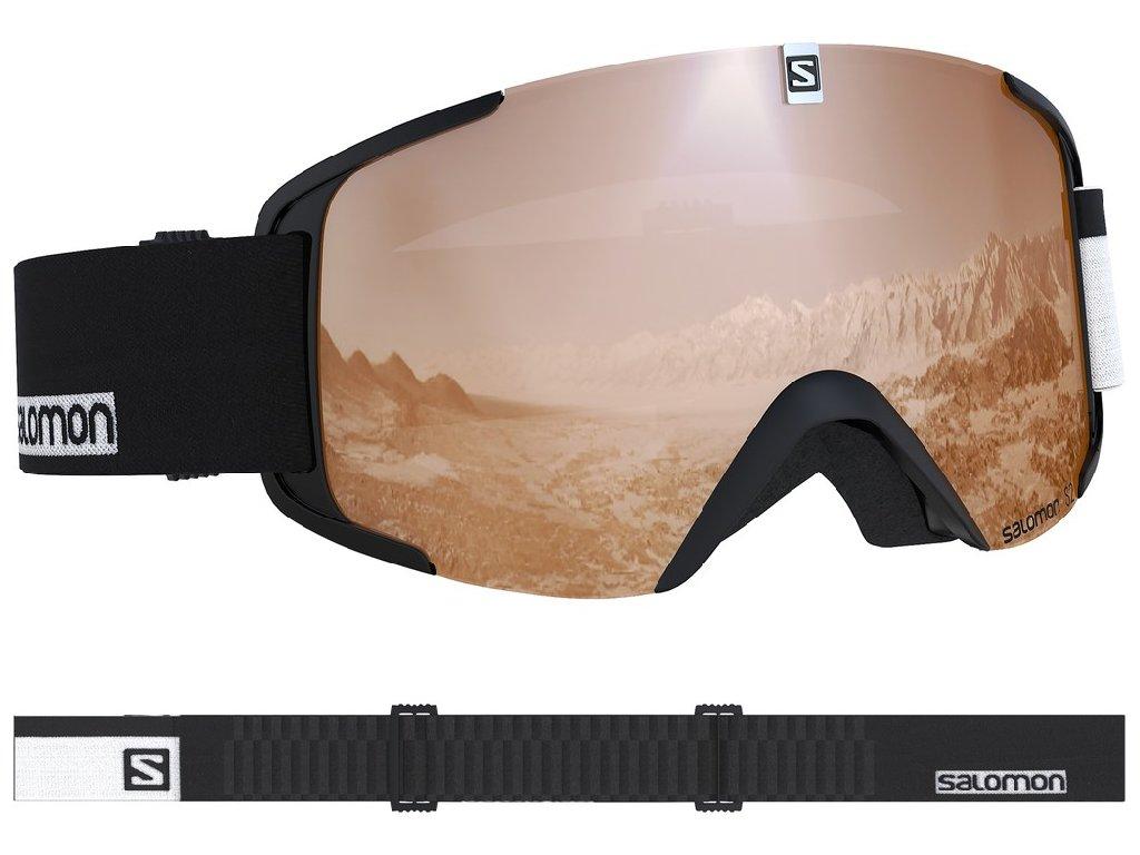 lyž.brýle SAL.XVIEW access black-white/UNI t.oran