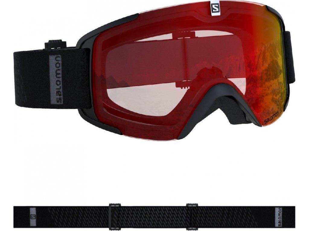 lyž.brýle SAL.XVIEW black/UNI mid red 19/20