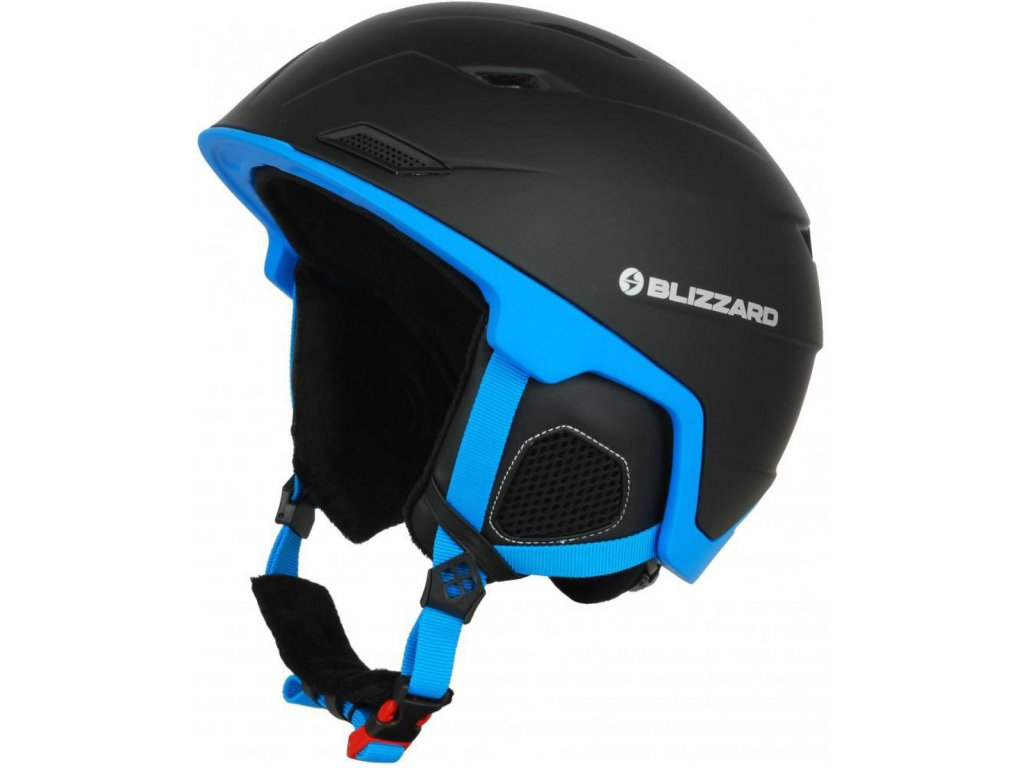 BLIZZARD Double ski helmet, black matt/blue