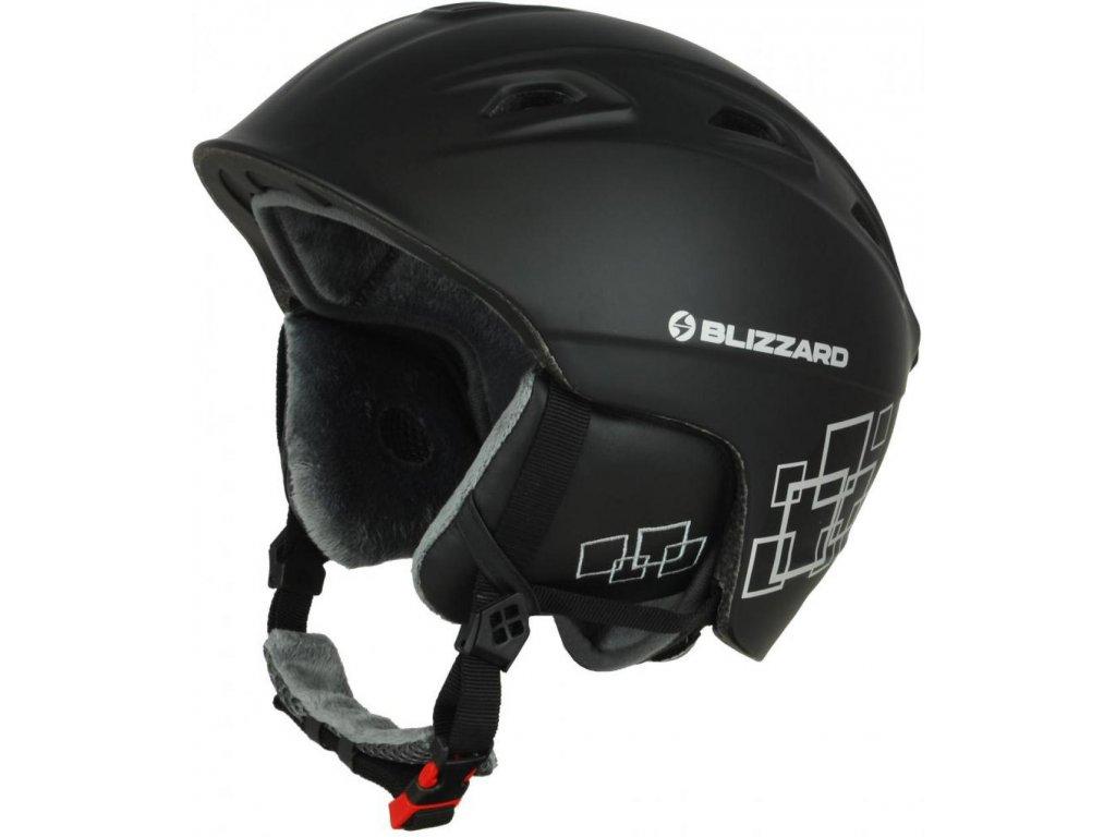 BLIZZARD Demon ski helmet, black matt/silver squares