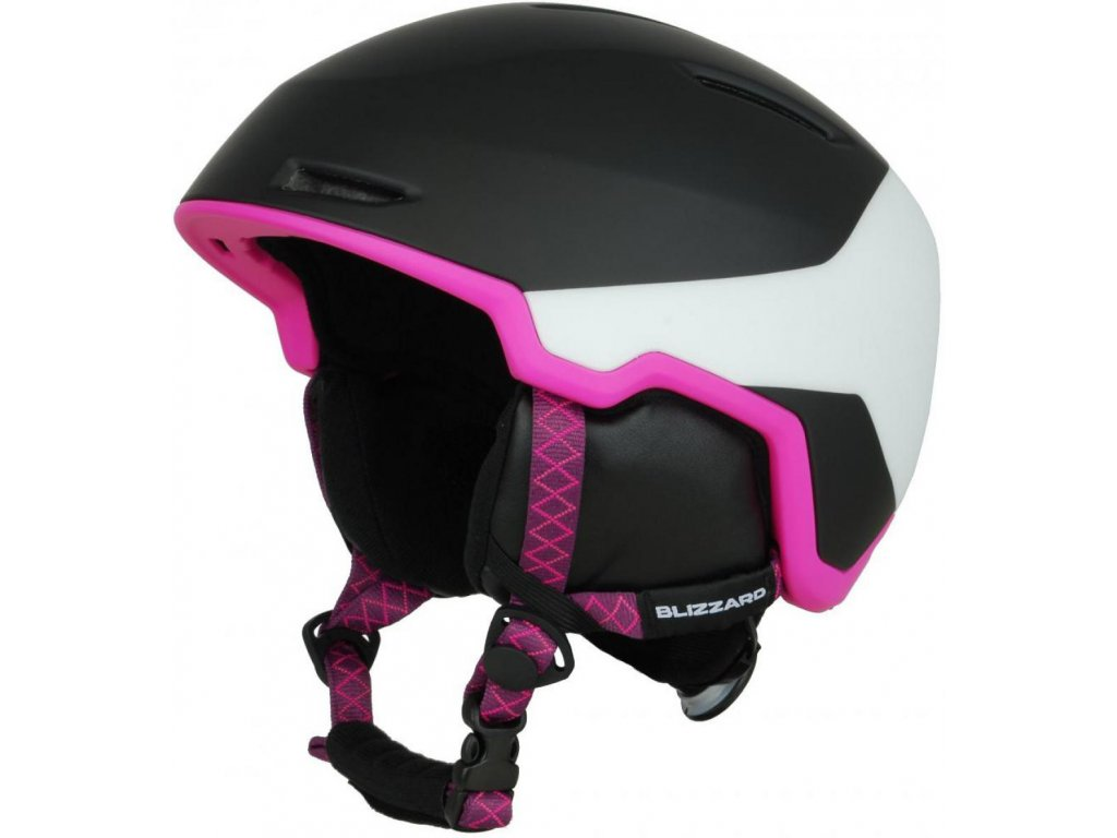 BLIZZARD Viva Viper ski helmet, black matt/white matt/magenta matt