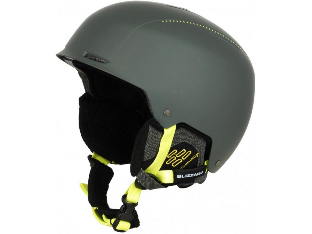 BLIZZARD Guide ski helmet, grey matt/neon yellow matt