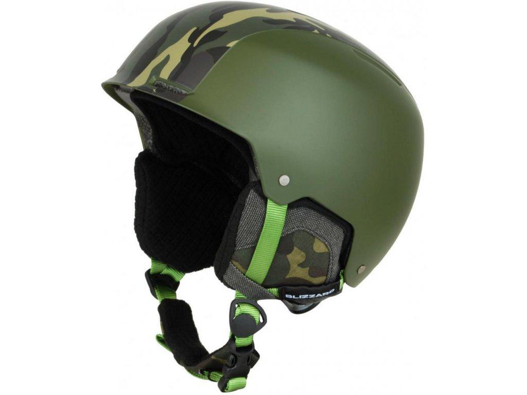 BLIZZARD Guide ski helmet, dark green matt/camouflage matt