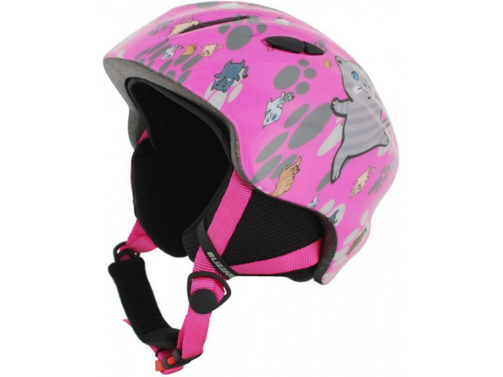 BLIZZARD Magnum ski helmet junior, pink cat shiny