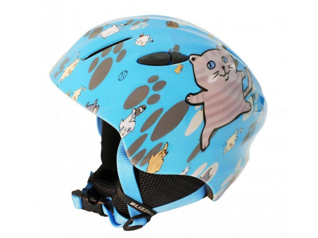 BLIZZARD Magnum ski helmet junior, blue cat shiny