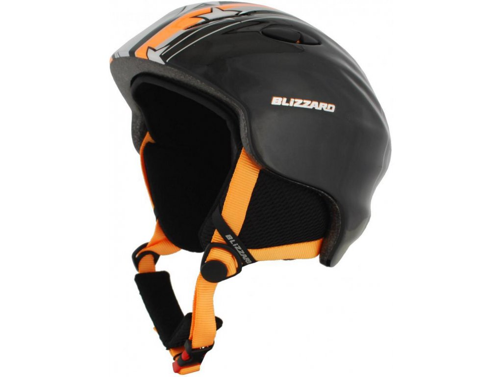 BLIZZARD Magnum ski helmet junior, orange star shiny
