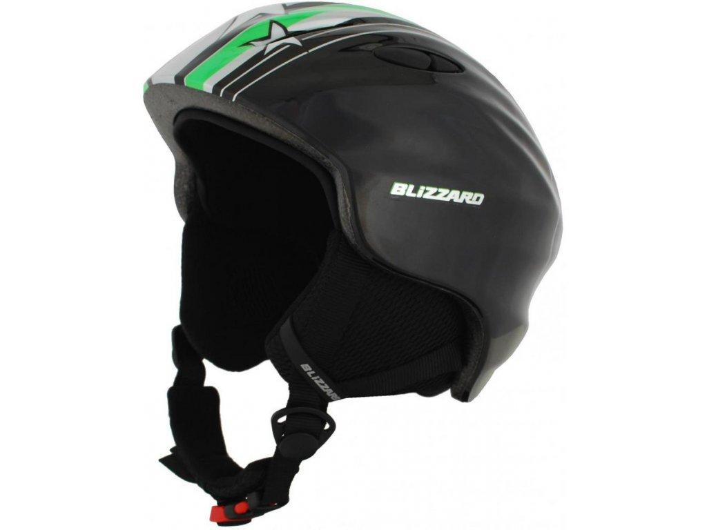 BLIZZARD Magnum ski helmet junior, green star shiny