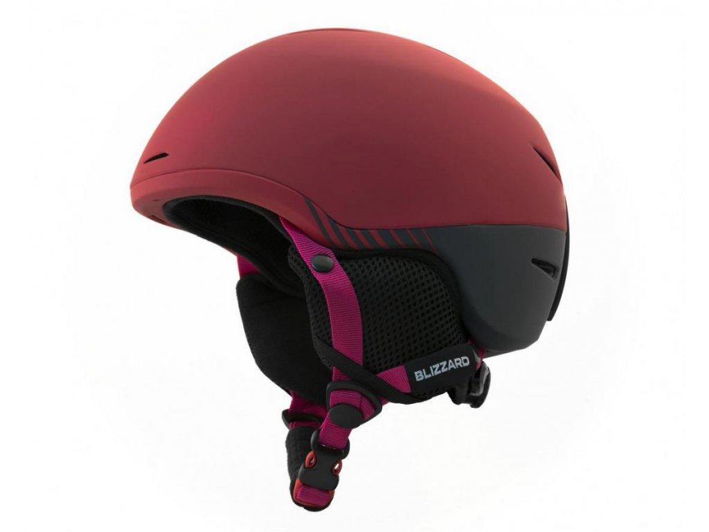 BLIZZARD Speed ski helmet junior, bordeaux matt/grey matt