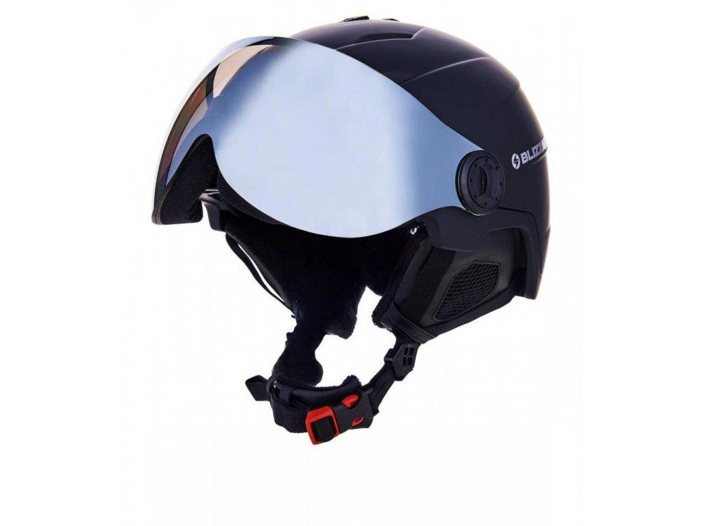 BLIZZARD Double Visor ski helmet, black matt, smoke lens, mirror