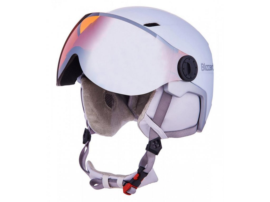 BLIZZARD Viva Double Visor ski helmet, white matt/silver, orange lens, mirror