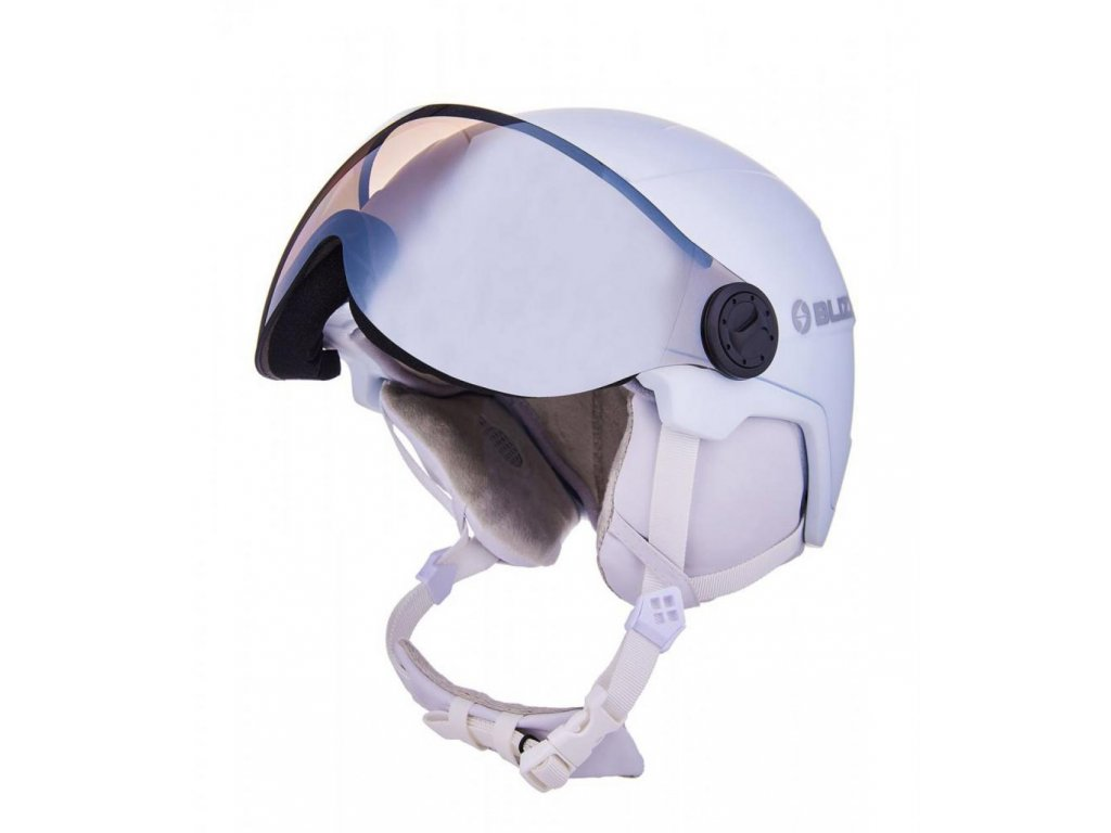 BLIZZARD Viva Double Visor ski helmet, white matt, smoke lens, mirror