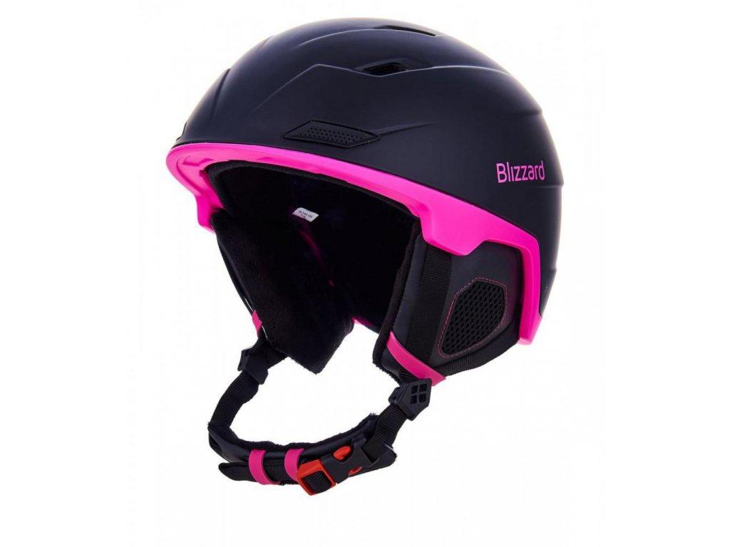 BLIZZARD Viva Double ski helmet, black matt/magenta